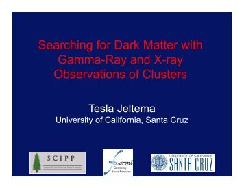 Searching for Dark Matter with Gamma-Ray and X-ray Observations ...