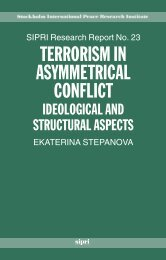 Terrorism in Asymmetrical Conflict - Publications - SIPRI