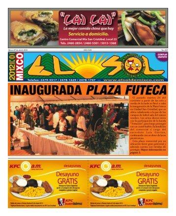 INAUGURADA PLAZA FUTECA - ElsoldeMixco.com