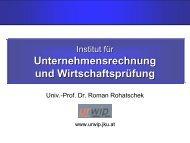 """Institut """"Unternehmensrechnung und Wirtschaftsprüfung"""" - JKU"""
