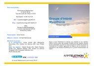 plaquette GI myasthénie - AFM - Groupe Myasthénie - Téléthon