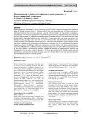 Pharmacognostical studies and evaluation of quality parameters of ...