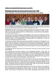 Generalversammlung 2012 - SC-Sonnenwald eV