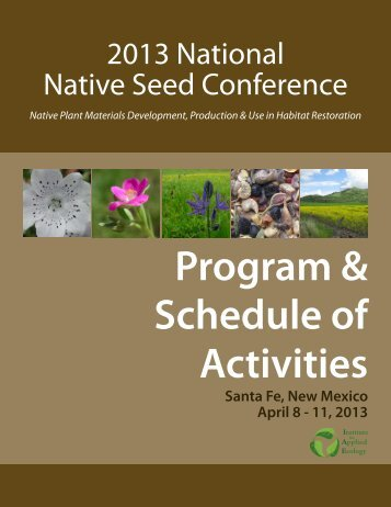 Download the Conference Program - National Native Seed ...