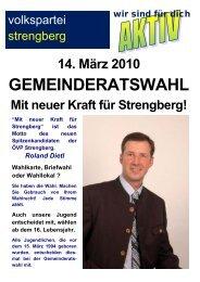 14. März 2010 GEMEINDERATSWAHL Mit neuer Kraft für - Mostviertel