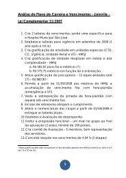 1 Análise do Plano de Carreira e Vencimentos – Joinville – Lei ...