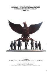 Pedoman Peringatan Hari Kesaktian Pancasila Tahun 2011