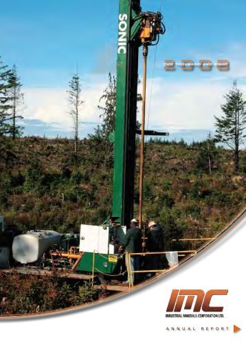 Annual Report - Industrial Minerals Corp
