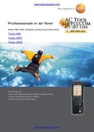 Testo 400563 4802 Brochure - Actoolsupply.com