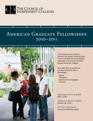 Download the American Graduate Fellowships brochure (PDF).
