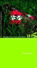 Wandern mit Bus und Bahn - Bezirksgemeinschaft Burggrafenamt