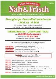 Strengberger Gesundheitswoche von 11.Mai bis 16. Mai - Mostviertel