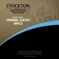 Program Brochure - Stockton College