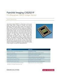 CIS 2521F Data Sheet - Fairchild Imaging