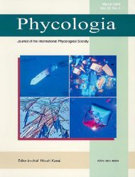 Crystalline cell inclusions - Phycology Research Group, Ghent ...