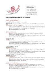 Veranstaltungsübersicht Hessen Darmstadt ... - Tag der Regionen