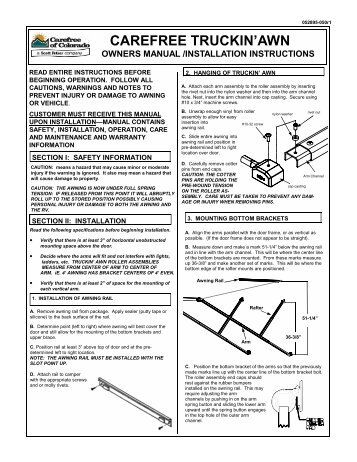 Hho dry cell installation manual instructions labellas auto repair auto truckin awn owners manual and installation instructions publicscrutiny Choice Image