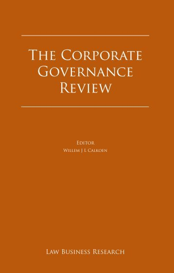 Law Business Research. The Corporate Governance Review 2011 ...