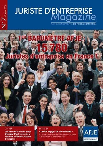 Téléchargez le magazine au format pdf en cliquant sur ce lien - AFJE