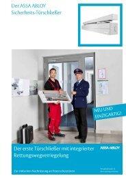 Der ASSA ABLOY Sicherheits-Türschließer Der erste Türschließer ...