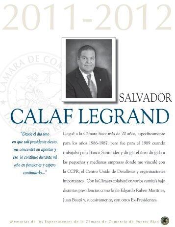 Salvador Calaf Legrand - Cámara de Comercio de Puerto Rico