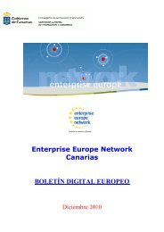 Enterprise Europe Network Canarias BOLETÍN DIGITAL EUROPEO