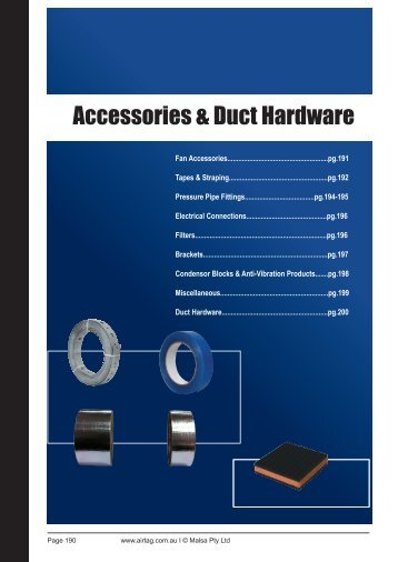 Accessories & Duct Hardware - AirTag