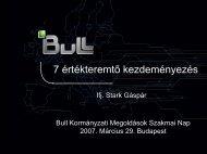 Bull - 7 értékteremtő kezdeményezés