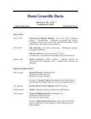 Donn Granville Davis – Howard University – College Of Arts - COAS
