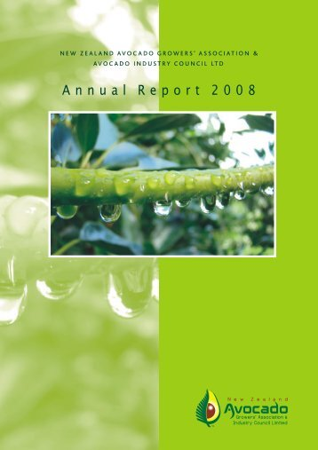 Annual Report 2008 - New Zealand Avocados