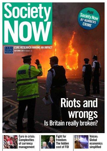 Issue 11 - Autumn 2011 (PDF, 3.72Mb) - ESRC
