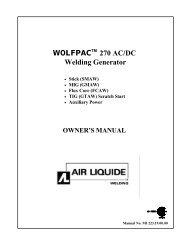 WOLFPAC 270 AC/DC Welding Generator - BLUESHIELD