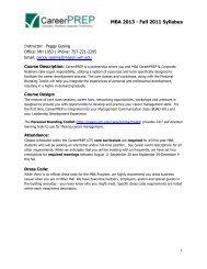 MBA 2013 - Fall 2011 Syllabus - Mason School of Business