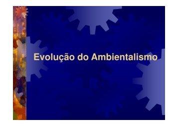 Evolução do Ambientalismo - UNIPAMPA Cursos