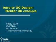 OO: Designing Classes