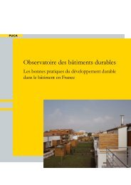 Observatoire des bâtiments durables - Cellule Économique du ...