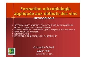 Formation microbiologie appliquée aux défauts des vins - Union des ...