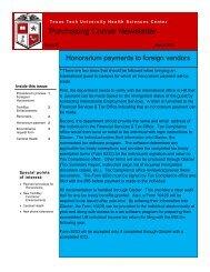 March, 2012 - TTUHSC :: Finance & Administration - Texas Tech ...