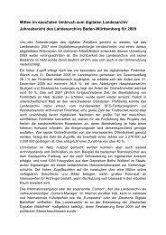 Jahresbericht 2009 - Landesarchiv Baden Württemberg