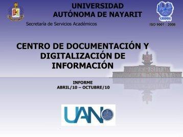 Octubre 2010 - Universidad Autónoma de Nayarit