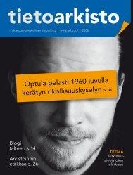 Tietoarkisto 2008 - Yhteiskuntatieteellinen tietoarkisto - Tampereen ...