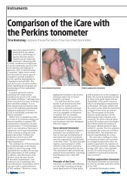 Comparison of the iCare with the Perkins tonometer