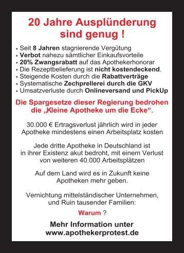 Todesanzeige Flyer zum Download - apothekerprotest