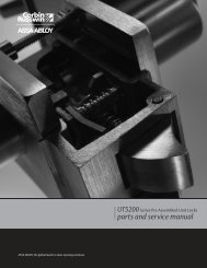 parts and service manual - ASSA ABLOY Door Security Solutions ...