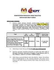 Muat turun dokumen sebut harga - Kementerian Pengajian Tinggi