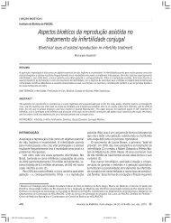 Aspectos bioéticos da reprodução assistida no tratamento da ...