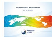 Point de situation Mercator Océan