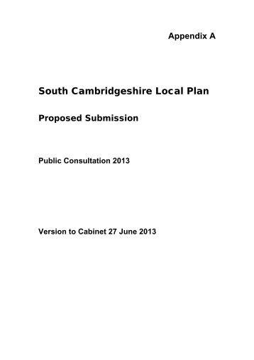 South Cambridgeshire Local Plan - Cambourne.info