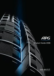 Product Guide 2008 - APG