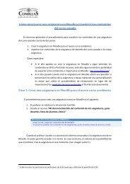 Cómo incorporar una asignatura en Moodle - Universidad Pontificia ...